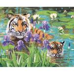 """Набор для вышивания """"Тигрица и тигренок"""" """"Candamar Design"""" (США)"""