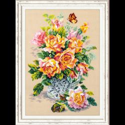 """Набор для вышивания """"Чайные розы"""" """"Чудесная Игла"""""""