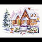 """Набор для вышивания """"Зимний домик"""" """"Чудесная Игла"""""""