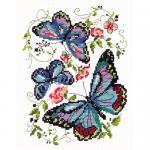 """Набор для вышивания """"Синие бабочки"""" """"Чудесная Игла"""""""