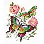 """Набор для вышивания """"Бабочки и розы"""" """"Чудесная Игла"""""""