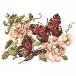 """Набор для вышивания """"Пионы и бабочки"""" """"Чудесная Игла"""""""