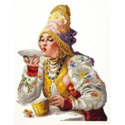 """Набор для вышивания """"Боярышня за чаем"""" """"Чудесная Игла"""""""
