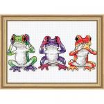 """Набор для вышивания """"Трио древесных лягушек"""" """"Dimensions"""" (США)"""