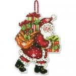 """Набор для вышивания елочной игрушки """"Санта с мешком"""" """"Dimensions"""""""