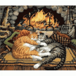 "Набор для вышивания гобелена ""Кошки у камина"" ""Dimensions"""