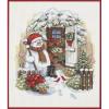 """Набор для вышивания """"Снеговик во дворе"""" """"Dimensions"""""""