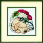 """Набор для вышивания """"Щенок и котенок рождественским утром"""" """"Dimensions"""""""