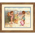 """Набор для вышивания """"Дети на пляже"""" """"Dimensions"""""""