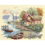 """Набор для вышивания """"Дом у озера"""" """"Dimensions"""""""
