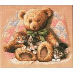 """Набор для вышивания """"Мишка и котята"""" """"Dimensions"""""""