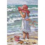 "Набор для вышивания ""Девочка на пляже"" ""Dimensions"""