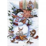 """Набор для вышивания """"Снеговик и друзья"""" """"Dimensions"""""""