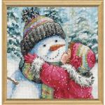 "Набор для вышивания ""Поцелуй для снеговика"" ""Dimensions"""