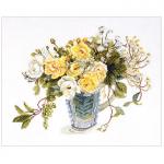 """Набор для вышивания """"Желтые розы"""" """"Fujico Collection"""" """"Lecien"""" (Япония)"""
