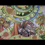 """Ткань с рисунком для вышивания бисером """"Кот и ромашки"""" """"Gamma"""""""