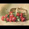 """Ткань с рисунком для вышивания лентами """"Розы в корзине"""" """"Gamma"""""""