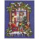 """Набор для вышивания """"Рождественское окошко"""" """"Janlynn"""" (США)"""