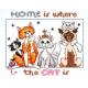 """Набор для вышивания """"Дом - это там, где коты"""" """"Janlynn"""" (США)"""