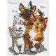 "Набор для вышивания ""Три кошки"" ""Janlynn"" (США)"