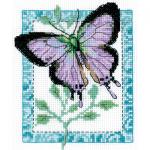 """Набор для вышивания """"Бабочка лиловая"""" """"Кларт"""""""