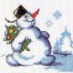 """Набор для вышивания """"Снеговик с ёлкой"""" """"Кларт"""""""