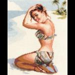 """Набор для вышивания """"Кокетка на пляже"""" """"Кларт"""""""