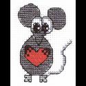 """Набор для вышивания """"Мышонок с сердечком"""" """"Кларт"""""""