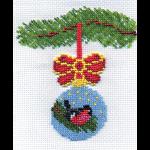 """Набор для вышивания бисером """"Новогодний шарик со снегирём"""" """"Кларт"""""""
