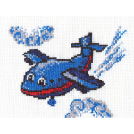 """Набор для вышивания """"Весёлый самолётик"""" """"Кларт"""""""