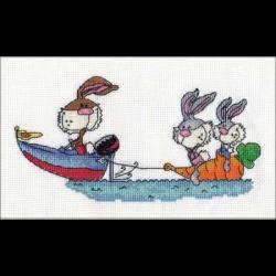 """Набор для вышивания """"Кролики на отдыхе"""" """"Кларт"""""""