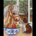 """Набор для вышивания """"Пони и котёнок"""" """"Кларт"""""""
