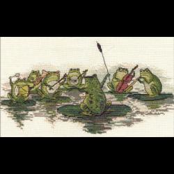 """Набор для вышивания """"Лягушачий оркестр"""" """"Кларт"""""""