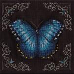 """Набор для вышивания бисером """"Голубая бабочка"""" """"Кларт"""""""