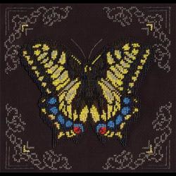 """Набор для вышивания бисером """"Жёлтая бабочка"""" """"Кларт"""""""