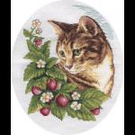 """Набор для вышивания """"Кошка в клубнике"""" """"Кларт"""""""
