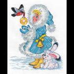 """Набор для вышивания """"Снегурочка и снегирь"""" """"Кларт"""""""