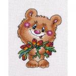 """Набор для вышивания """"Медвежонок с тюльпанами"""" """"Кларт"""""""