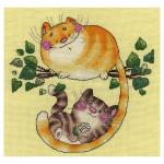 """Набор для вышивания """"Котята на дереве"""" """"Кларт"""""""