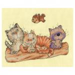 "Набор для вышивания ""Котята на бревне"" ""Кларт"""