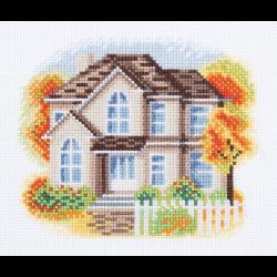 """Набор для вышивания """"Дом на Осенней улице"""" """"Кларт"""""""