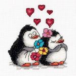 """Набор для вышивания """"Влюблённые пингвины"""" """"Кларт"""""""