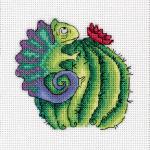 "Набор для вышивания ""Хамелеон на кактусе"" ""Кларт"""
