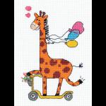 """Набор для вышивания """"Жираф на самокате"""" """"Кларт"""""""