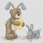 """Набор для вышивания """"Медвежонок Бруно и зайчик"""" """"Luca-S"""""""