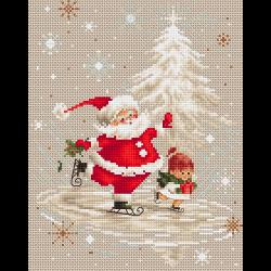 """Набор для вышивания """"Санта Клаус"""" """"Luca-S"""""""