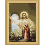 """Набор для вышивания """"Иисус, стучащийся в дверь"""" """"Luca-S"""""""