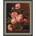 """Набор для вышивания гобелена """"Розы в вазе"""" """"Luca-S"""""""