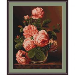 """Набор для вышивания """"Розы в вазе"""" """"Luca-S"""""""