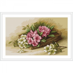 """Набор для вышивания """"Цветы азалии в корзине"""" """"Luca-S"""""""